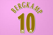 Bergkamp #10 2005-2006 Arsenal Player Größe Premier League Gold Nameset Printing