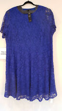IA/09 JOANNA HOPE Maxi Dress Blue Floral Lace Size 32 Occasions Wedding Guest
