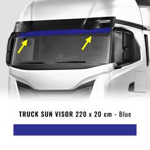 Fascione Parasole Adesivo per Autocarro, Blu, 220 x 20 cm