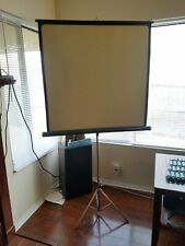 Vintage Da-Lite Movie Slide Projector Screen Tripod 40 X 40 green Made Usa