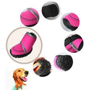 4Pcs/Set Waterproof Winter Pet Dog Shoes 7 SIZE Dog's Boots Cotton Non Slip XS X