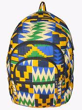 Kente Print African Backpack Book Bag Rucksack Handmade Backpack Fabric Backpack