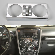 Chrome Interior Center Windows Button Trim Cover For 07-10 Jeep Wrangler JK 4-DR