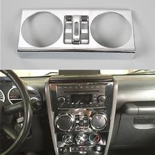 Chrome Interior Center Windows Button Trim Cover For 2007-2010 Jeep Wrangler JK