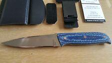 Bud Nealy Cave Bear CPM knife custom with MCS II sheath system NEW