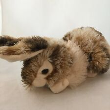 Dan Dee Bunny Rabbit Plush Realistic Laying Down Brown Tan White Furry Easter