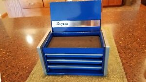 Snap-On Royal Blue Miniature Mini Upper Top Tool Box Drawers Small Cabinet