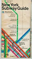 VINTAGE 1974 NEW YORK CITY SUBWAY MAP & GUIDE NYCTA NYC