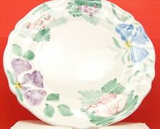 Italian round flowered serving platter 13""