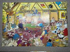 RARE Scandecor Poster 39X26.5 Cartoon Pub Scene 1978 Sweden BOKNA BOKMA UPPSALA