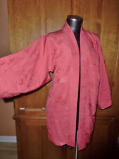 VTG RED Silk Japanese Haori Shibori KIMONO Ethnic Asian Coat JACKET