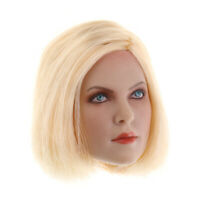 12'' Action Figure Accessory 1/6 Blonde Hair Female Head Sculpt for Kumik
