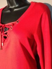 CALVIN KLEIN Red Sweater Dress Sz Large 12 14  Retail $98 FREE PRIORITY SHIPPING