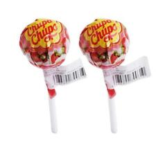 2x Chupa-Chups Lolipop Candy Strawberry and Cream Flavor Assorted Flavour 11g