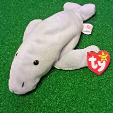 EPIC 1995 Retired Ty Beanie Baby MANNY The Manatee MWMT - MISPRINT WEBSITE TAG