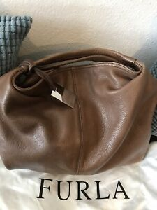 furla handtasche, Leder, groß, braun