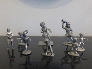 LOT OF 8 VINTAGE PEWTER MINIATURE FIGURINES DIFFERENT BRANDS