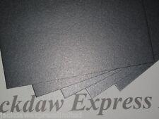15 x A5 300gsm gris anthracite 2-verso perlé scintillant carte AM97