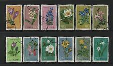 POLAND 1962 POLISH PROTECTED PLANTS FULL SET OF 12 (SG1314/25) *USED/CTO*