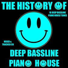 The History Of Deep Bassline Piano House Music CD Mix 2017 Funky ibiza Style DJ