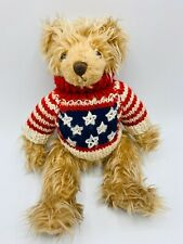 Ganz Cottage Collectibles Miniatures Teddy Bear Knit Sweaters LOT of 2