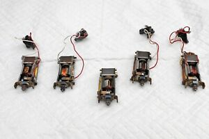 Lot Scalextric 1960s spare RX motors + guides 1 Racetuned all work