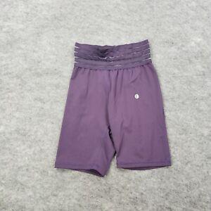 Womens Small Cycling Shorts Solid Purple Riding Tight Pants Bike Shorts Athletic