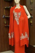 Zari Embroidered Kashmiri Salwar Suit Indian Ethnic Red Women Dress Traditional