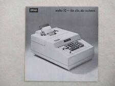 WALTHER Multa 32 Original Prospekt - Sales Brochure - Rarität - Rare