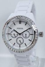 Fossil Uhr Uhren Damenuhr BQ1194 Glitz Kunststoff weiß Armbanduhr Markenuhr NEU