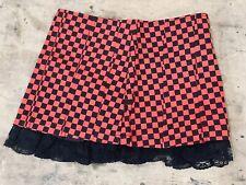 Punk Gothic Black/ Red Checkered Mini Skirt m
