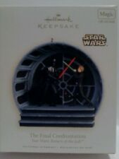 MIB HALLMARK ORNAMENT STAR WARS JEDI FINAL CONFRONTATION 2008 MAGIC VADER LUKE