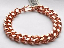 """NEW PURE Bright Polished Copper Curb Chain Link Men's 8.50"""" Bracelet"""