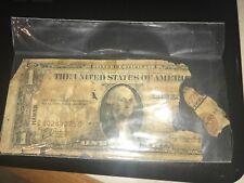 1935 A $1.00 HAWAII SILVER CERTIFICATE WW2 Emergency Note Brown Seal Torn