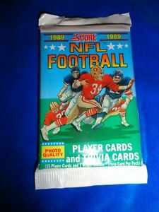 1989 Score Football Pack Fresh from Box! as pictured  Aikman, Sanders RC Year