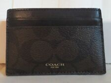 Coach Leather Business & Credit Card Cases for Men