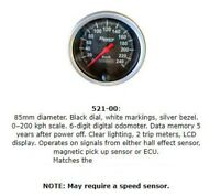 Speco 85mm Electronic Speedo Black Face 521-00