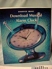 RARE Sharper Image MP3 Download MUSICAL ALARM CLOCK Atomic Space Record Music