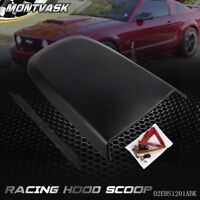 Black Front Racing Style Air Vent Hood Scoop For Ford Mustang GT V8 2005-2009