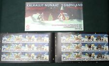 Greenland Christmas Stamp Booklet #07 2002 Family children gift - CTO EXCELLENT!