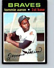 1971 TOPPS BASEBALL #717 TOMMIE AARON   EX+