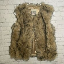 Women Size Small BB Dakota Faux Fur Vest
