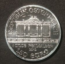 2012 PHILHARMONIC SILVER ROUND 1 TROY OZ .999 PURE SILVER 1.50 EURO  LOT 040422