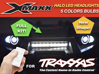 Front Bumper 18! LED DOUBLE Head Lights Lamp Mount for 1/5 Traxxas X-MAXX XMAXX