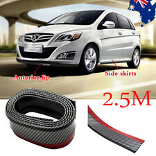 2.5m Carbon Fiber Universal Car Front Bumper Lip Splitter Chin Spoiler Body Trim