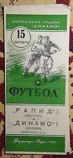 Programs Dynamo Moscow - Rapid Vienna 1953