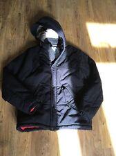 Noir rembourré veste à capuche de supremebeing taille m
