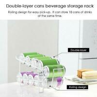 Soda Can Tin Drink Fridge Storage Box Container Dispenser Holder Rack Beverage