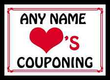 Love Heart Couponing Personalised Mousemat