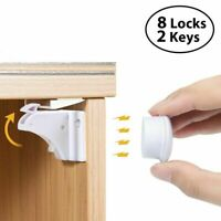 Baby Safety Cupboard Lock Invisible Magnetic Cabinet Locks Child Kid Proof Latch